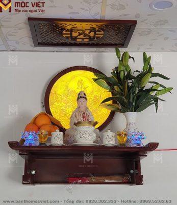 mẫu bàn thờ Phật treo tường TTS 1016 trang nghiêm, cung kính.