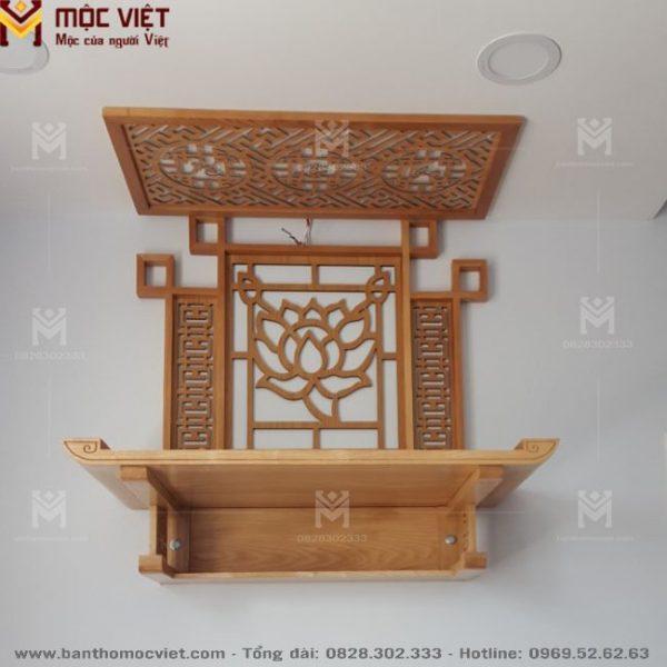 Mẫu bàn thờ treo tường đẹp và ốp lưng trang trí