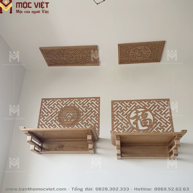 ban thờ treo tường 2 Tang thờ phật và gia tiên