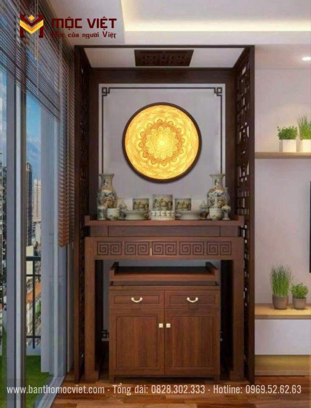 mẫu bàn thờ đứng hiện đại cho phòng thờ chung cư