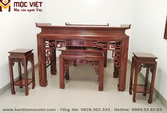 Bàn Thờ Gỗ đẹp Mộc Việt Mẫu Bt 2024