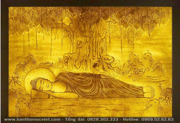 Tranh Trúc Chỉ Phật Niết Bàn
