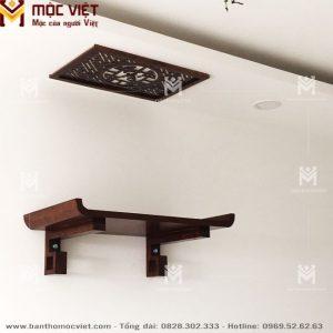 Mẫu bàn thờ ông táo treo tường với thiết kế hiện đại