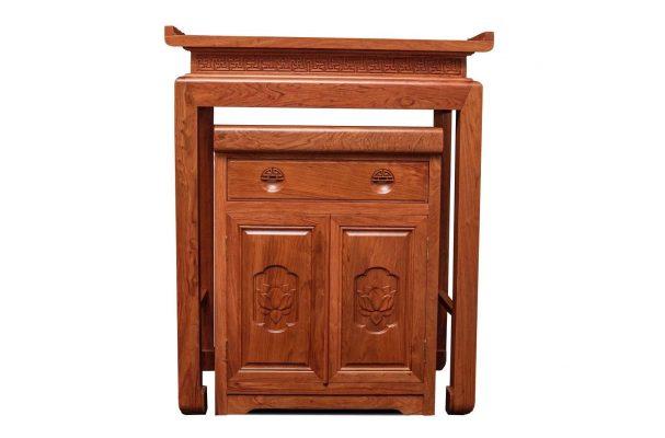 bàn thờ gỗ sồi kiểu đơn giản