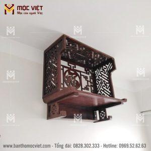 Mẫu ban thờ treo tường kết hợp vách ngăn trang trí