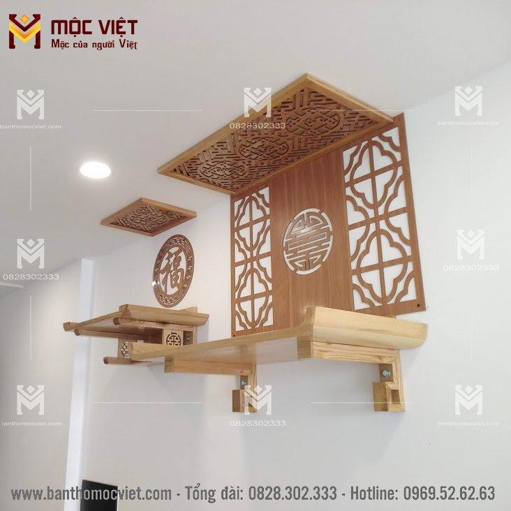 Mẫu ban thờ 2 tầng thờ Phật và Gia Tiên