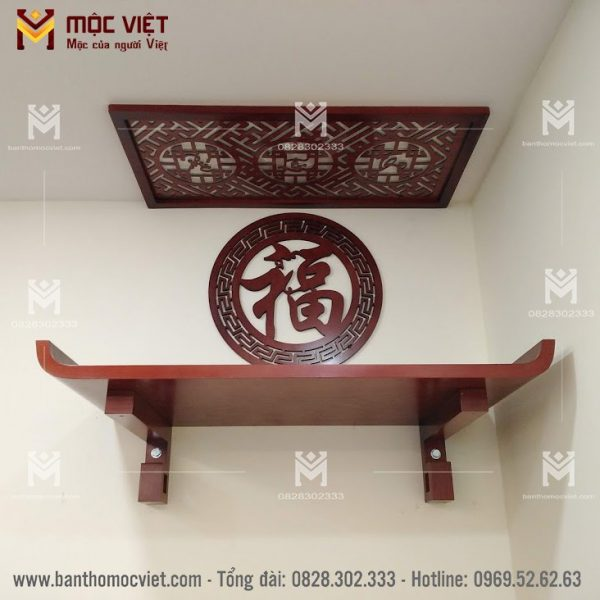 bàn thơ treo tường gỗ sồi