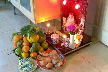 Lể nhập trạch cúng bàn thờ thân tài ông địa