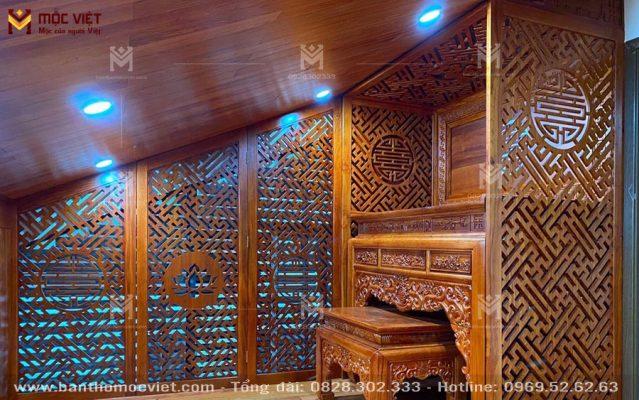 Phòng Thờ Tầng Gác Mái đẹp