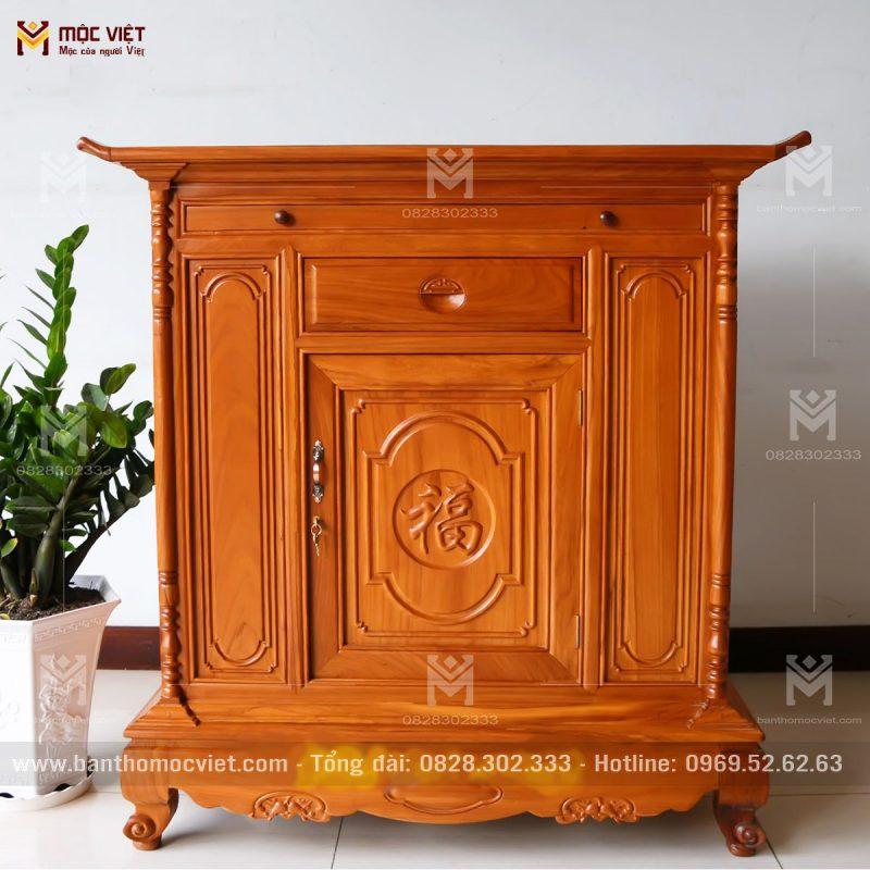 Tủ thờ gỗ gõ đẹp thích hợp cho không gian thờ tư