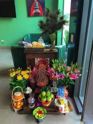 Bàn thờ thần tài mẫu hiện đại Mộc Việt