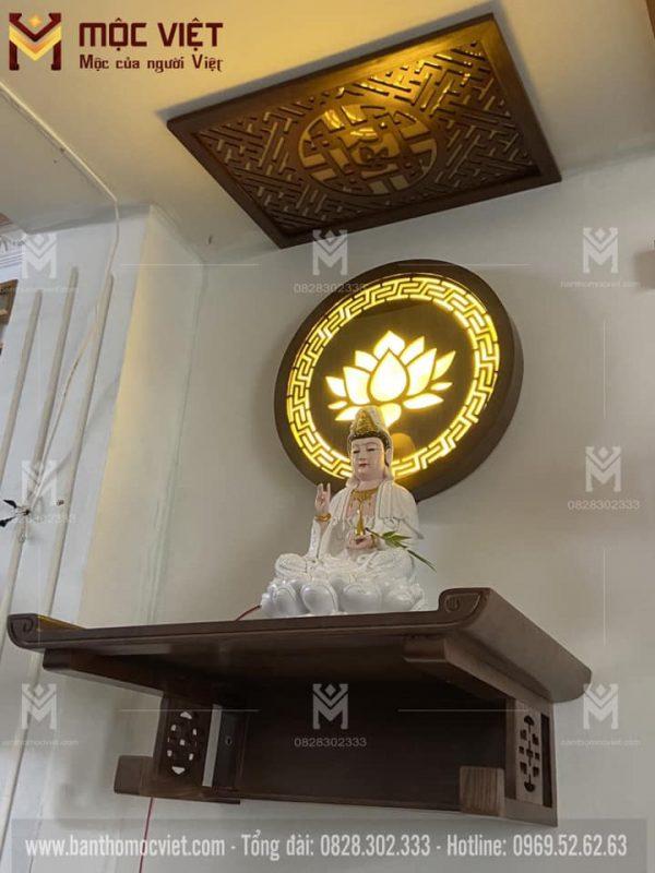 mẫu bàn thờ phật có màu hợp mệnh gia chủ
