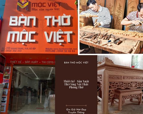 Bàn Thờ Mộc Việt Thương Hiệu Sản Xuất Bàn Thờ Uy Tín Lâu Năm