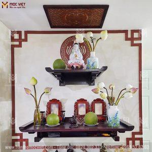 Mẫu Ban Thờ Phật 2 Tầng Gỗ Sồi đẹp