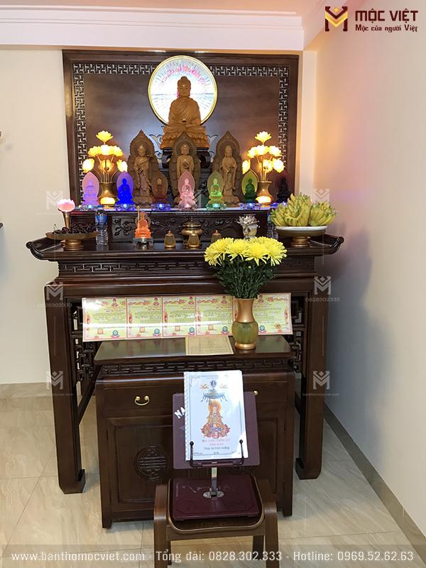 Mẫu Bàn Thờ Tam Cấp Thờ Phật đẹp